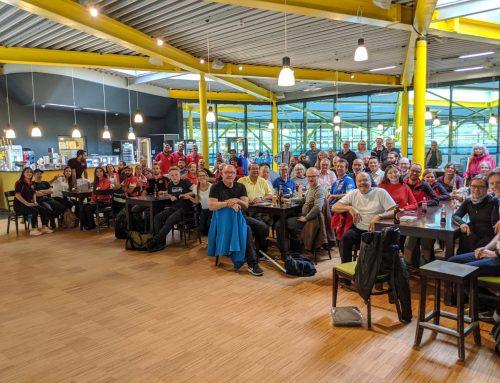 Rot – Gelb – Rot: So sieht das Siegertreppchen beim 8. Kölner Curling Turnier aus